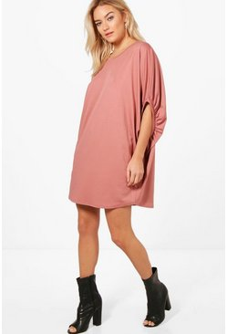 Womens Rose Charlotte Oversized Elasticated Frill Shift Dress