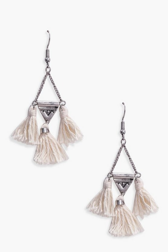 Triangle Tassel Earring