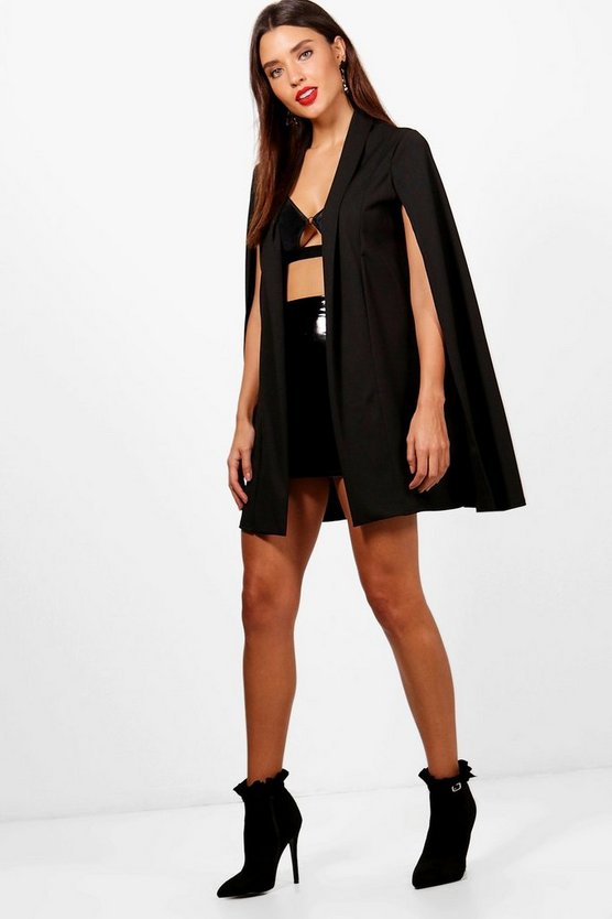 Shawl Collar Tailored Cape