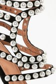 fc6f382bf374 ... Womens Black Premium Ella Pearl Embellished Gladiator Heel alternative  image