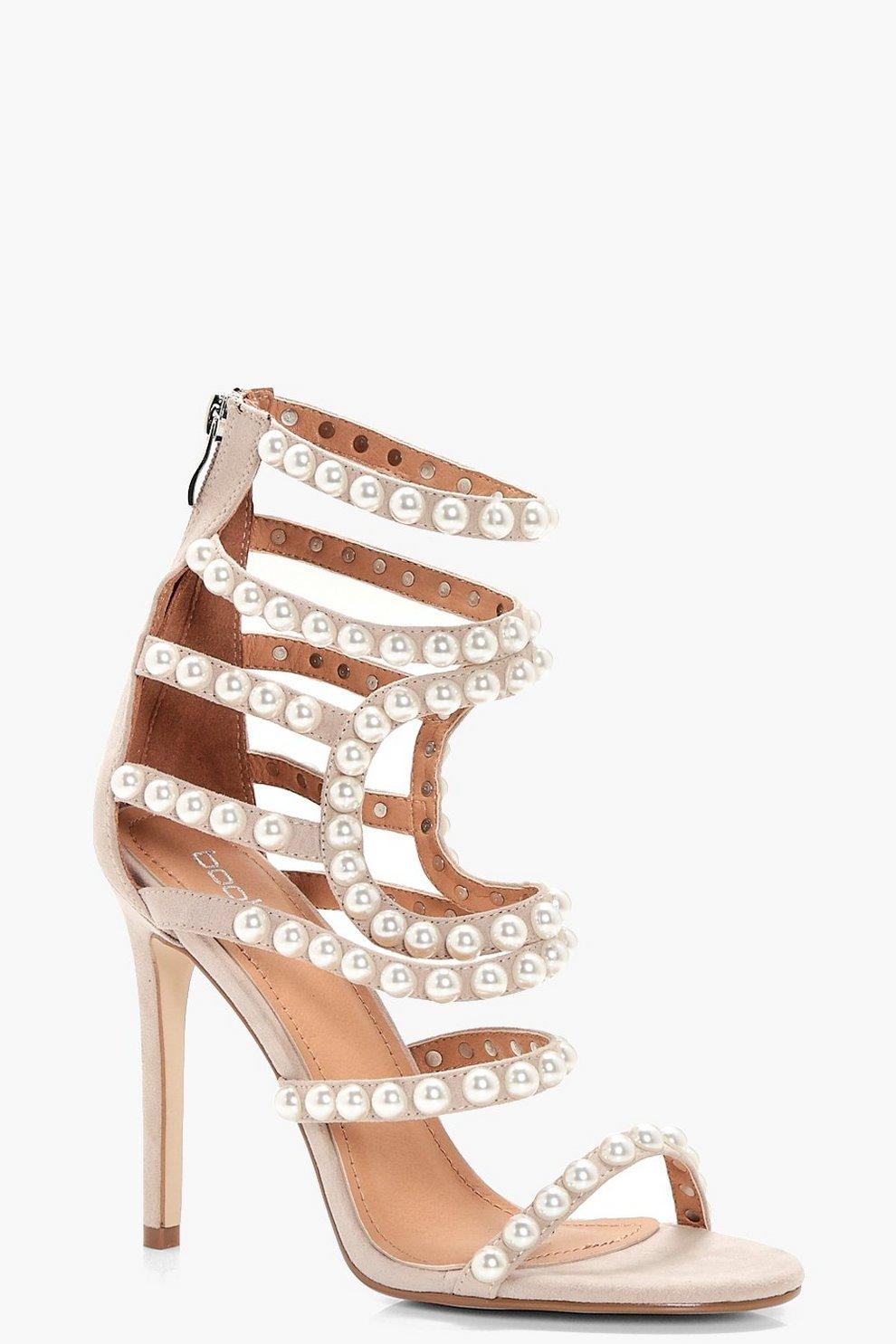 119c684d685b Premium Ella Pearl Embellished Gladiator Heel