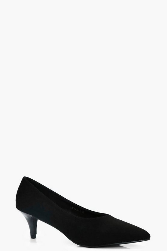 Sophie Pointed High Vamp Kitten Heels