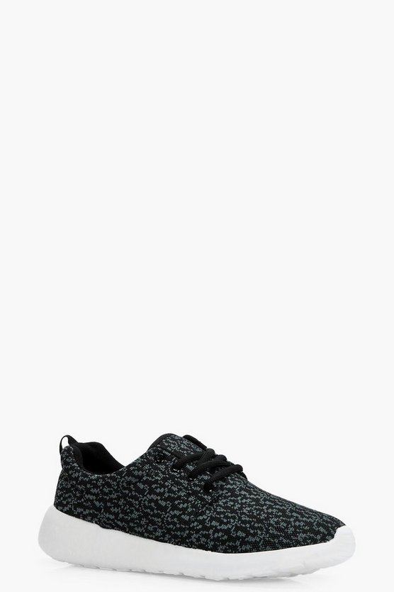 Hailey Knitted Loop Back Sports Trainers
