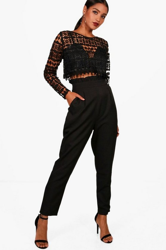 Premium Abi Lace Crop & Trouser Co-Ord Set