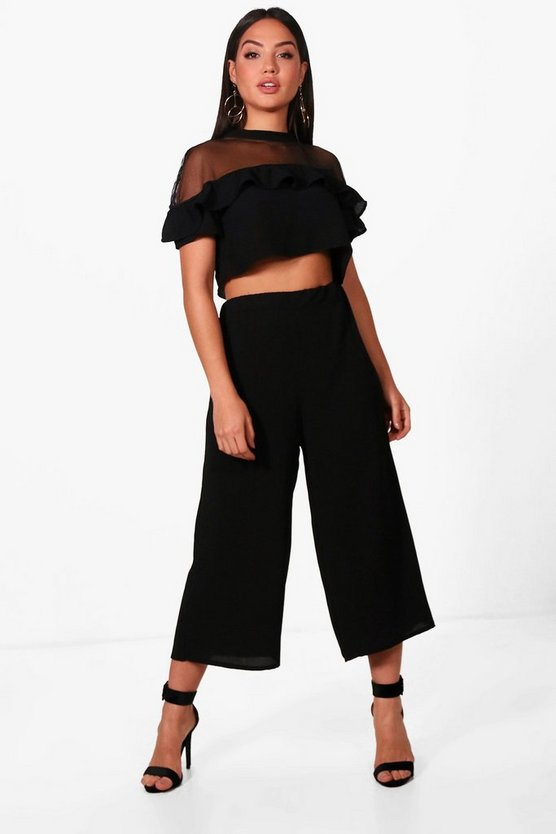 Woven Frill Crop and Culotte Co-ord