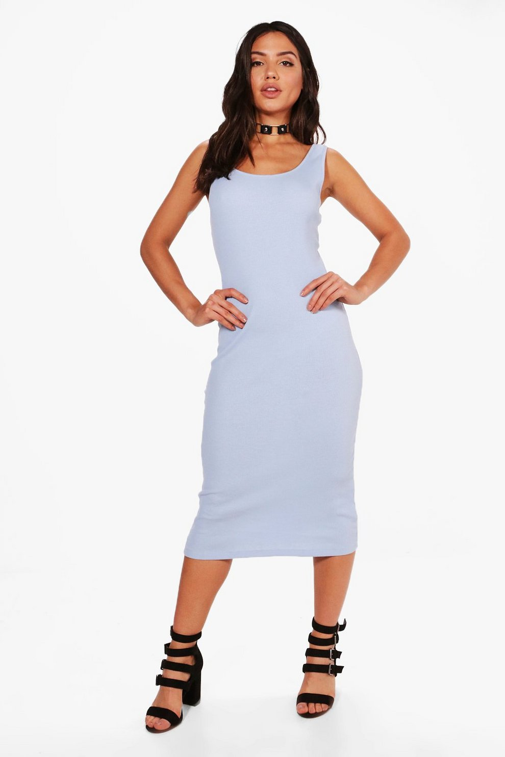 fa83fcfdda2 Alana Ribbed Midi Dress