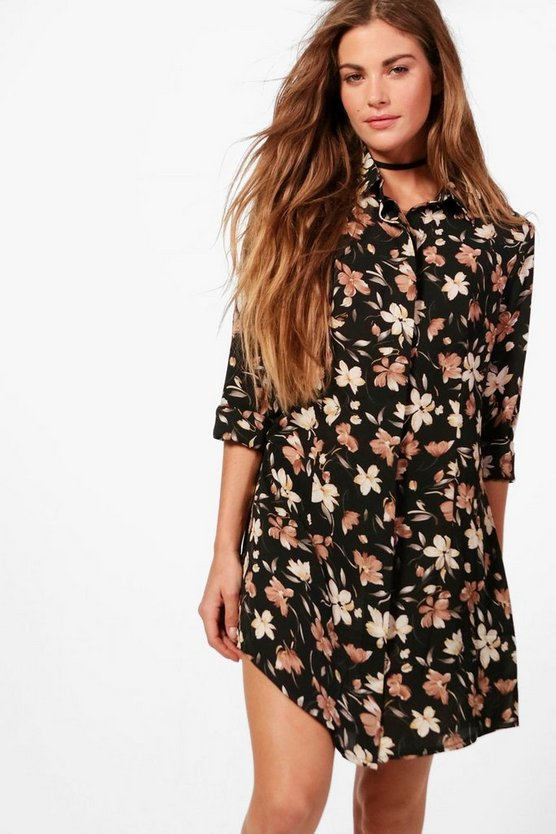 Stephanie Floral Shirt Dress