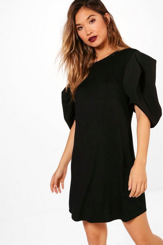 Freya Balloon Sleeve Shift Dress