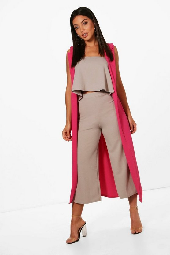 Bandeau Culotte and Duster 3 Piece Co-ord