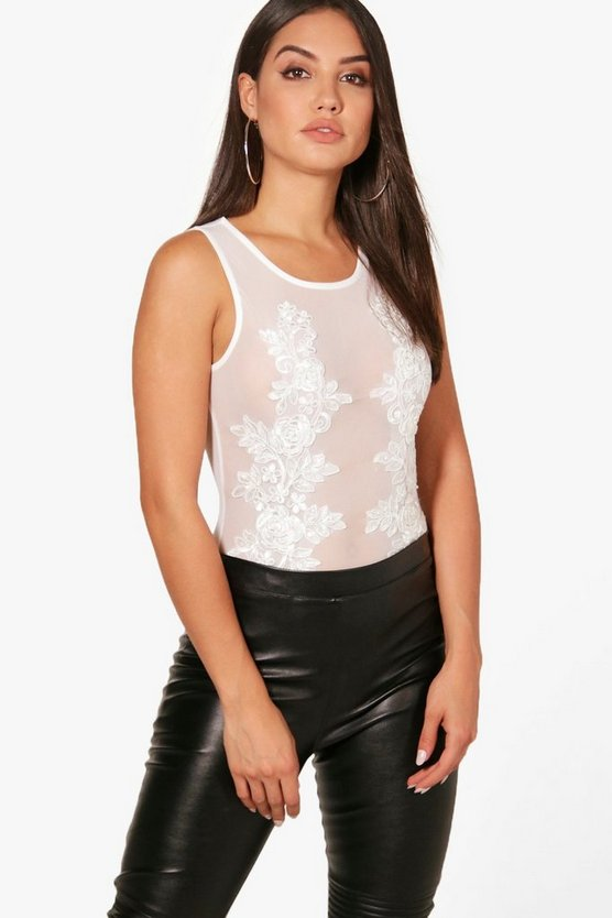 Ashley Embellished Embroidered Bodysuit