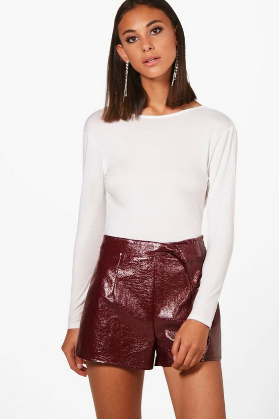 Basic Backless Long Sleeve Bodysuit