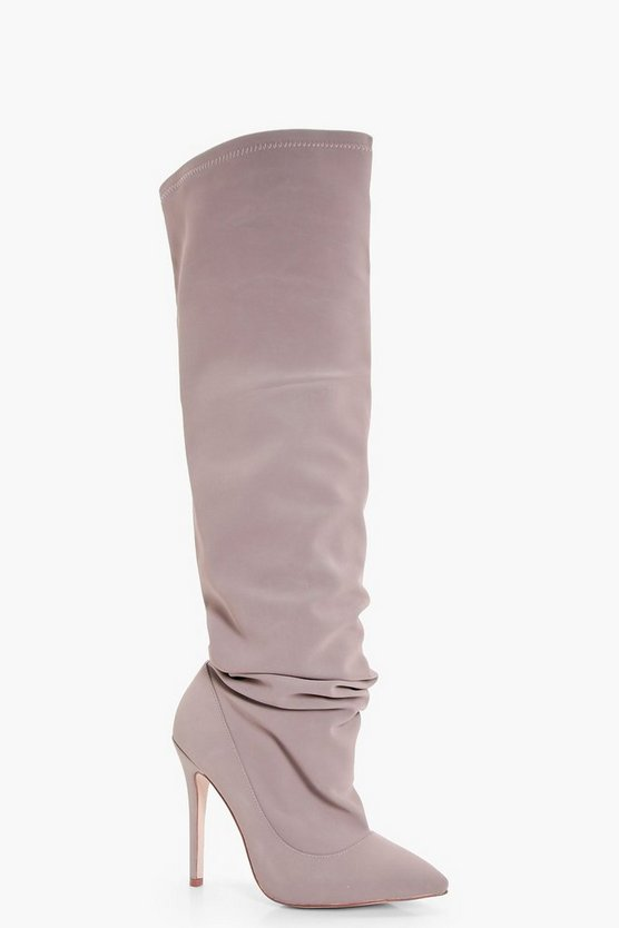 Slouchy Over The Knee Pointed Boots