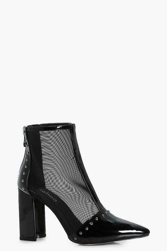 Mesh Studded Shoe Boots