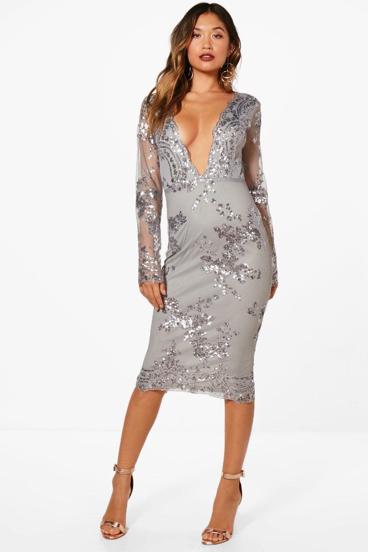 5751d1c7843 Boutique Sequin Mesh Midi Dress. Hover to zoom
