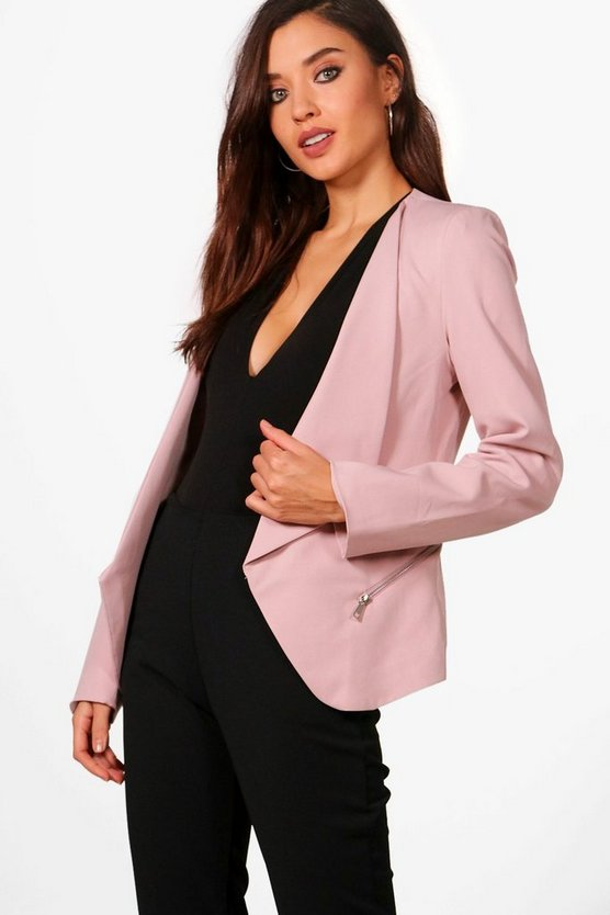 Zip Waterfall Blazer