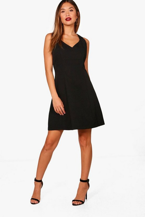 Woven Tailored Skater Dress