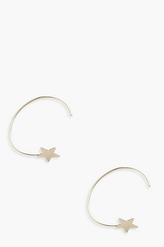 Eliza Star Hoop Earrings