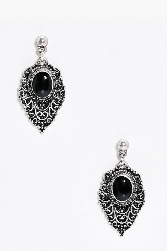 Filigree Stone Earrings