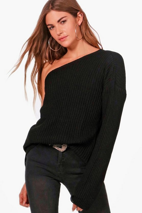 Eva One Shoulder Oversized Jumper