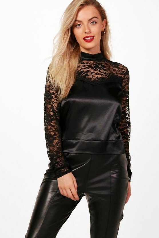 Erin Open Back Lace Top