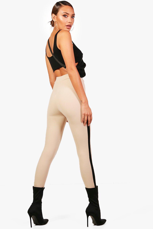 Stripe Crepe Contrast Legging Side stone p1xqxA5S