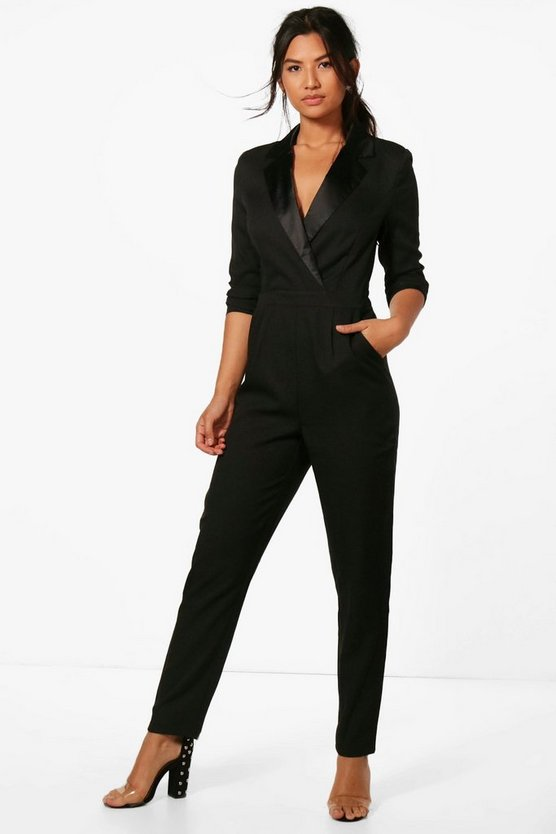 Tailored Tux Jumpsuit