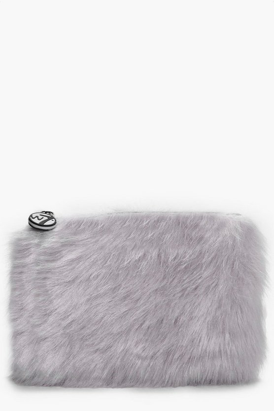 Medium Furry Makeup Bag