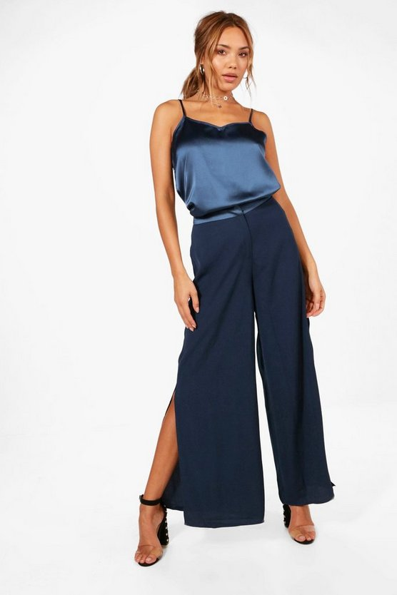 Cami and Wide Leg Split Trouser Co-ord
