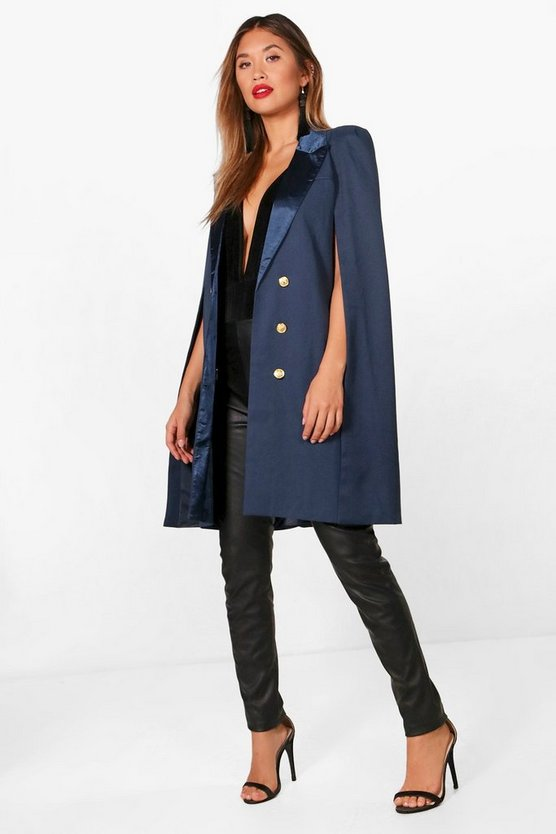 Rosie Double Breasted Tailored Cape