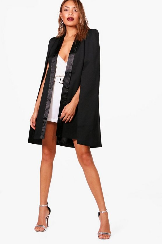 Longline Tuxedo Tailored Cape