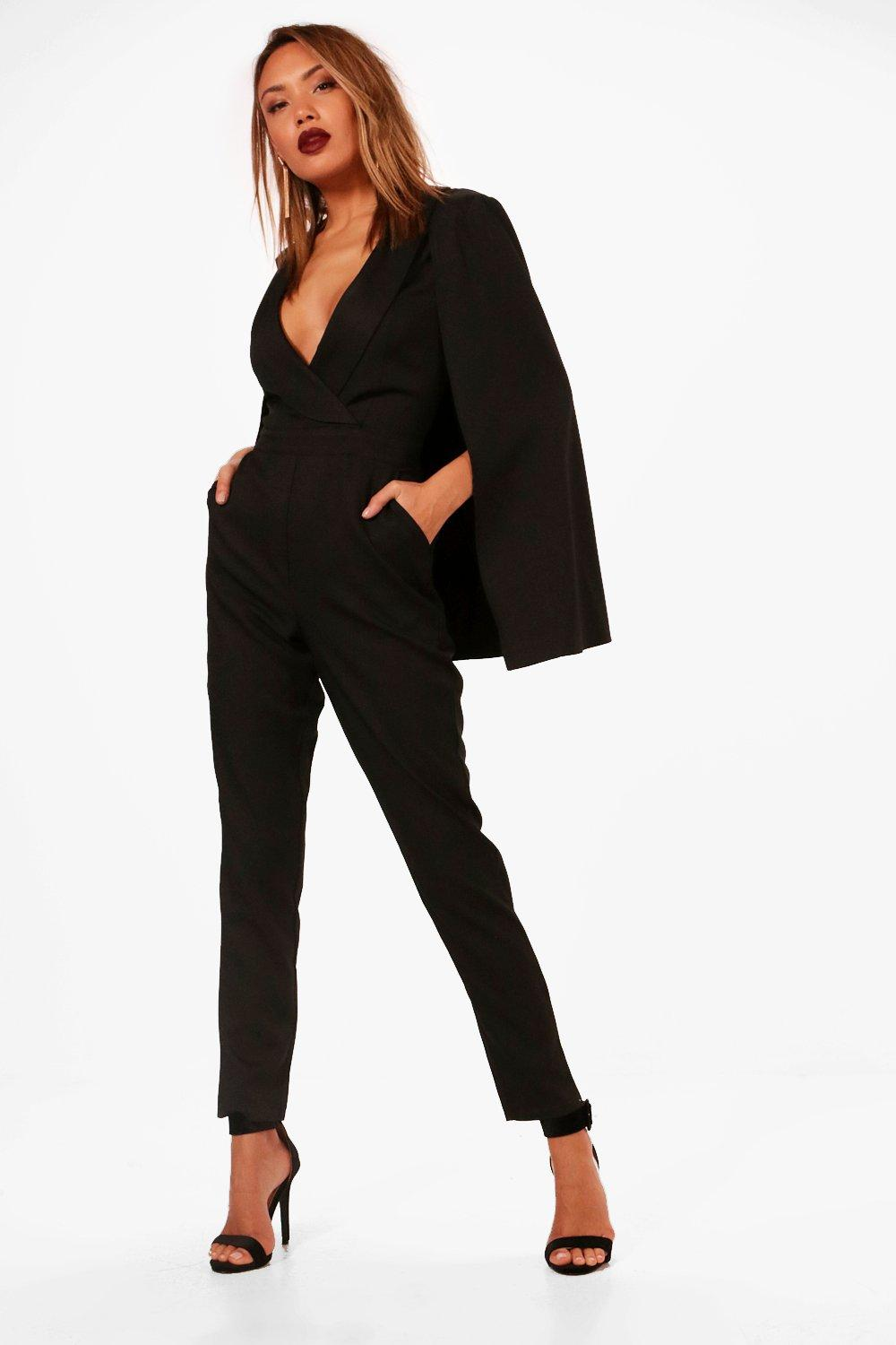 c890612f4f9e Tailored Cape Jumpsuit. Hover to zoom