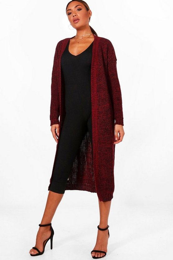 Marl Long Edge to Edge Maxi Cardigan