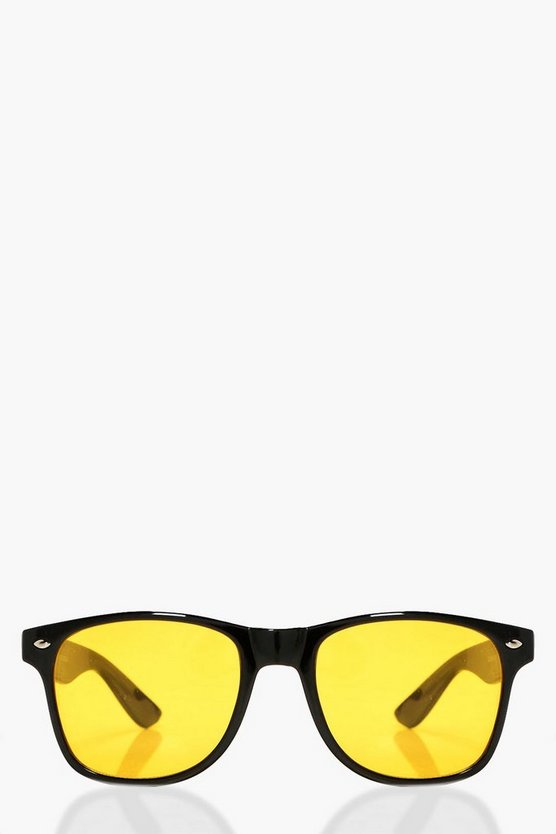 Eliza Yellow Lens Retro Sunglasses