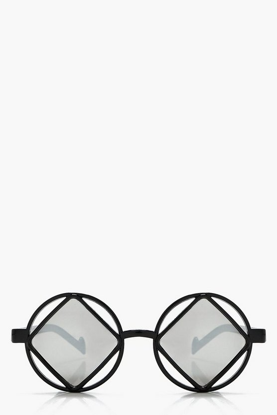 Rosie Cut Out Retro Round Sunglasses