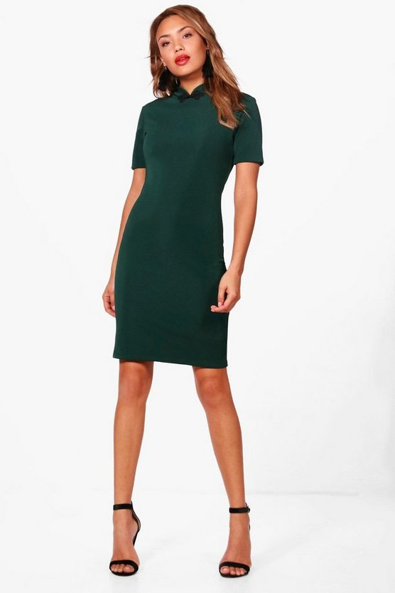 High Neck Bodycon Dress