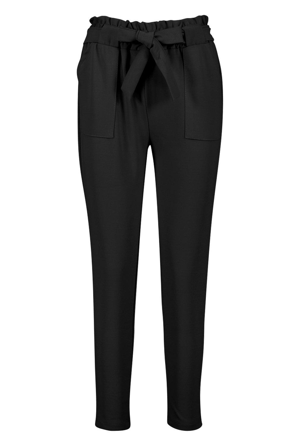 Boohoo-Hailey-Paperbag-Waist-Belted-Trouser-para-Mujer