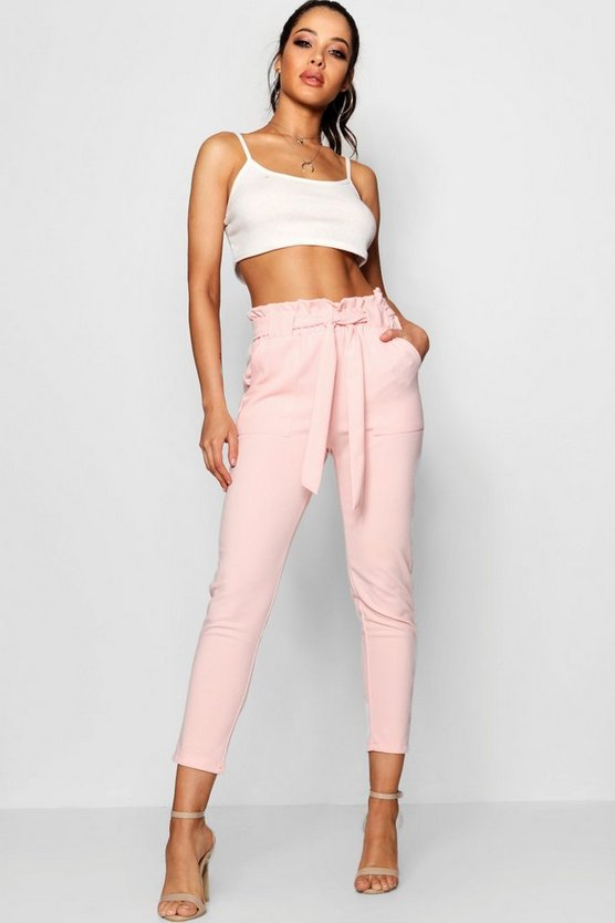 Paperbag Waist Belted Trouser