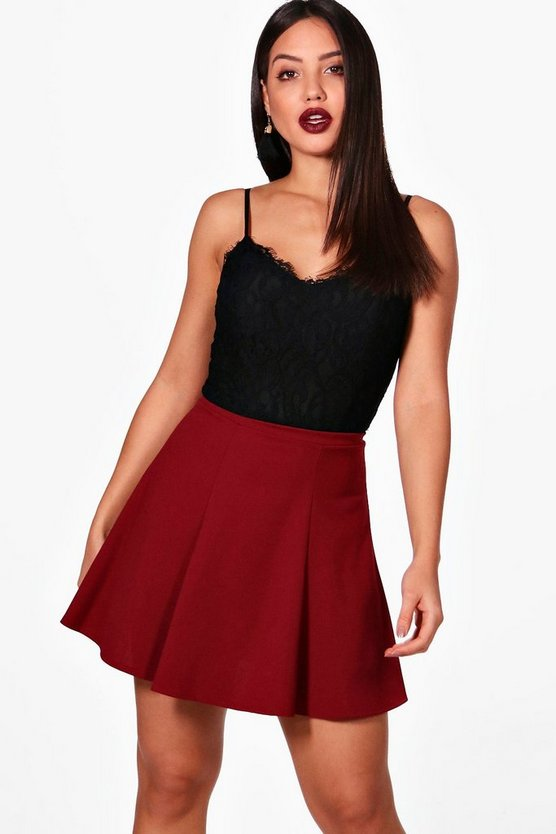 Tailored Panelled Skater Skirt