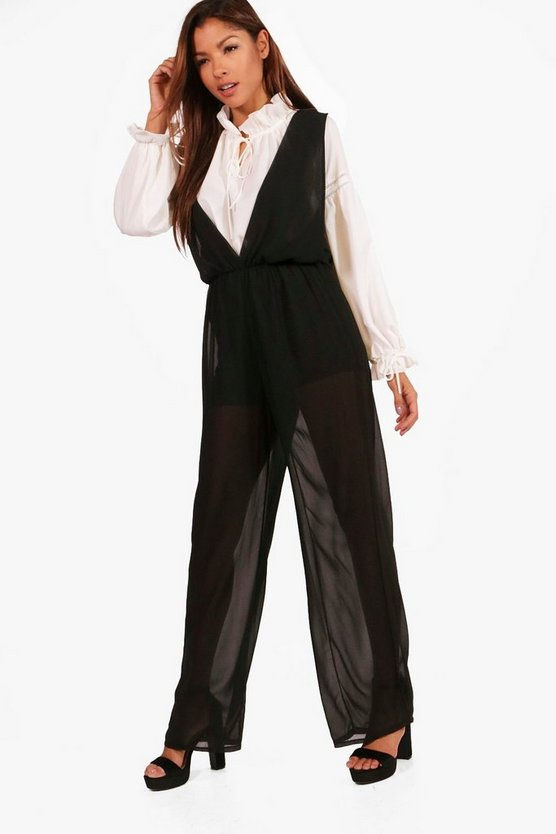 Alicia Sleeveless Woven Jumpsuit