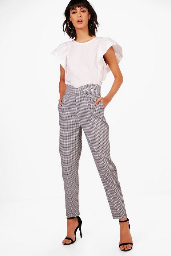 Holly Gingham Tailored Stretch Trouser