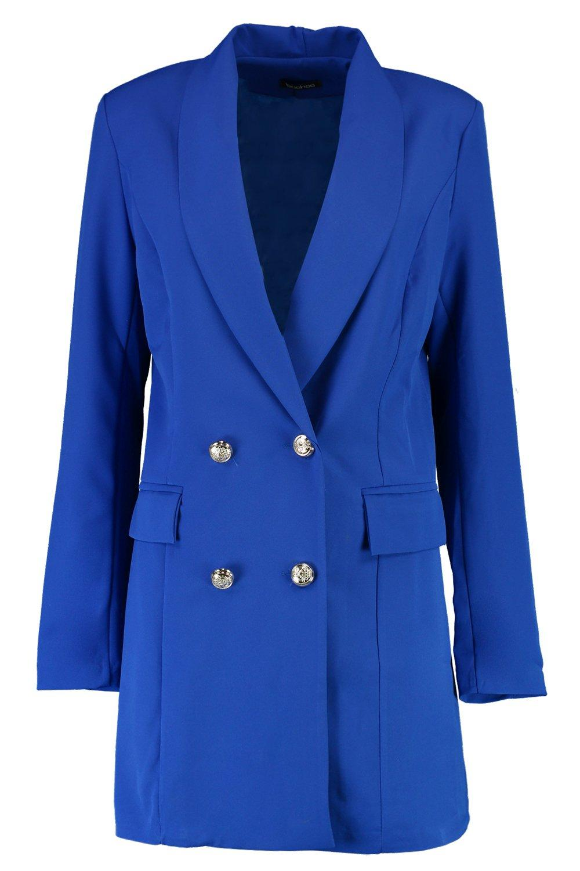 802553f05491 Boohoo-Womens-Abigail-Premium-Silver-Button-Longline-Blazer thumbnail
