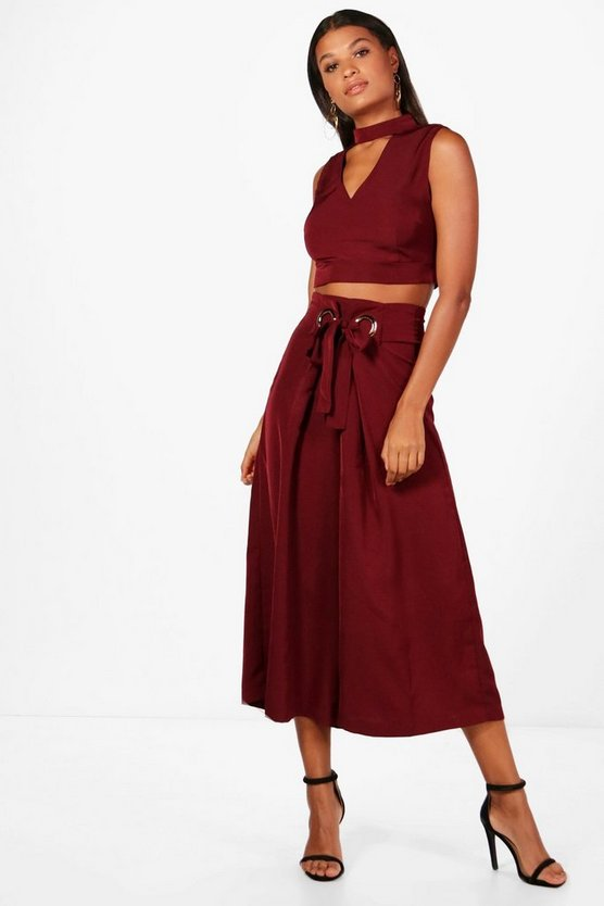 Choker and Wide Leg Culotte Co-ord
