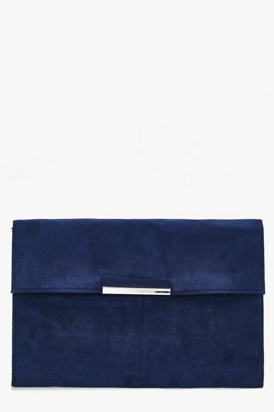 Suedette Coloured Clutch