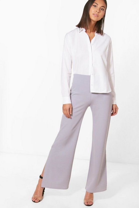 Nicole Wide Leg Split Side Trouser