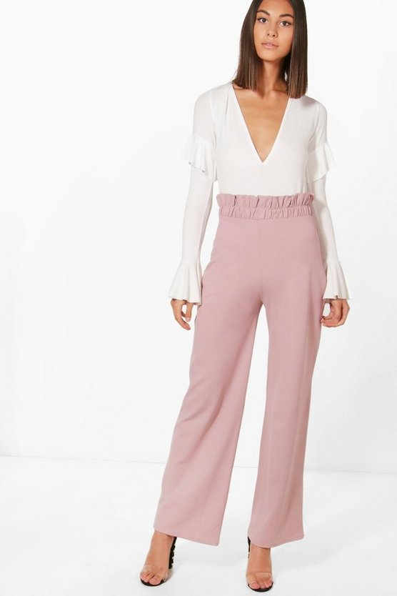 Martha Paperbag Waist Wide Leg Trouser