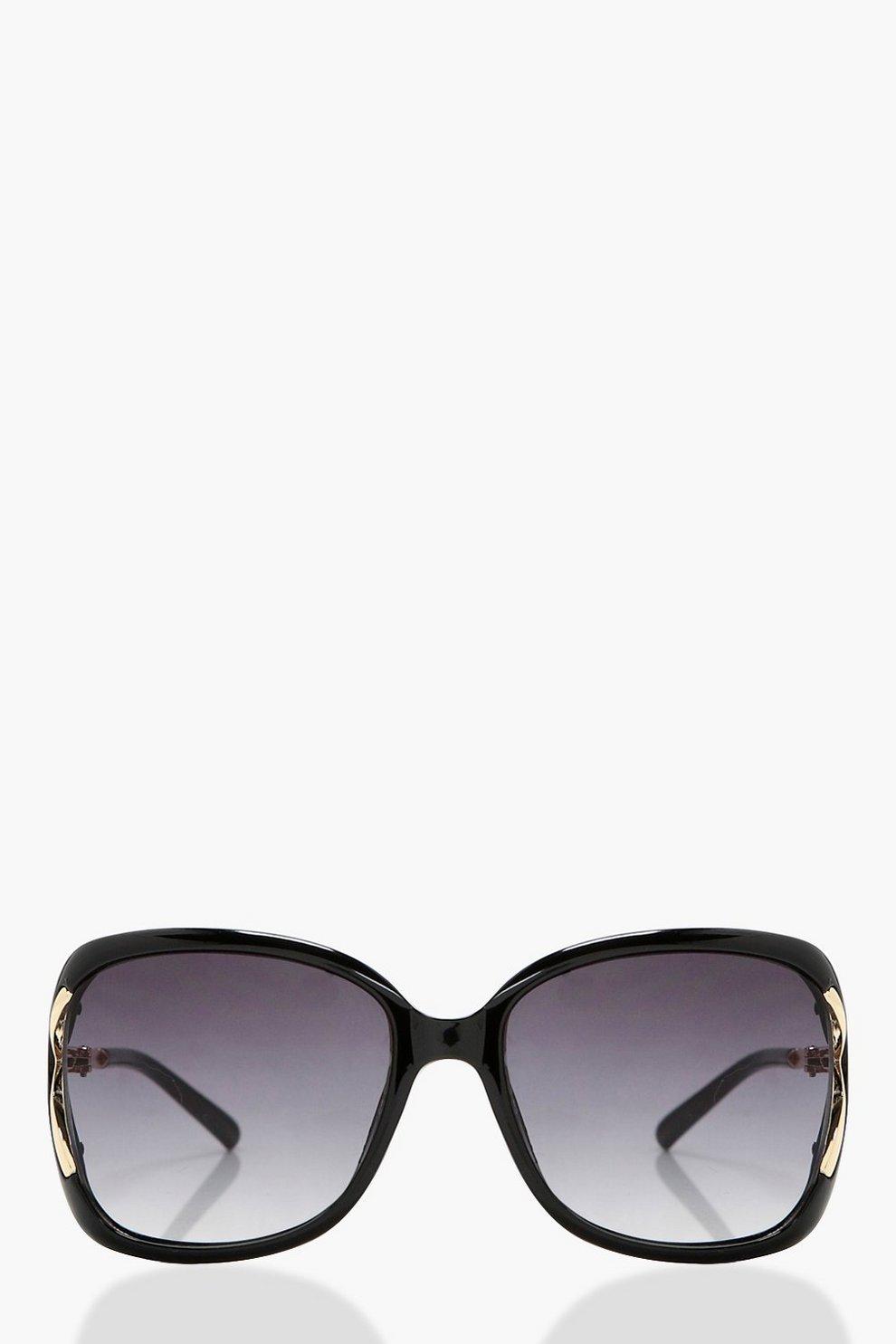 Harriet Large Frame Sunglasses   Boohoo