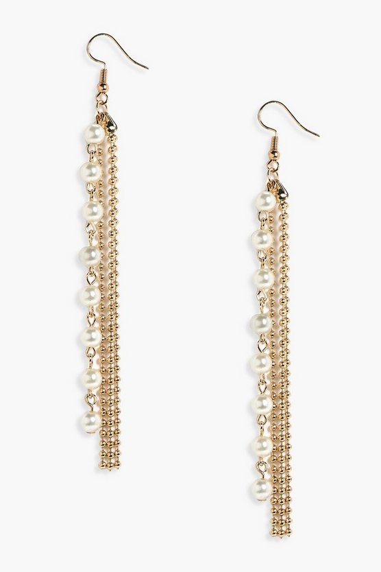 Emma Chain & Pearl Drop Earrings