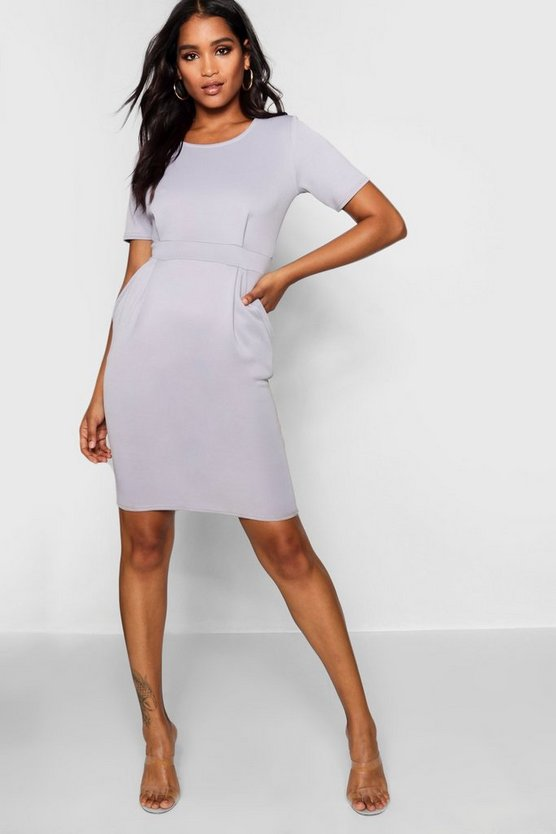 Tailored Pleated Dress