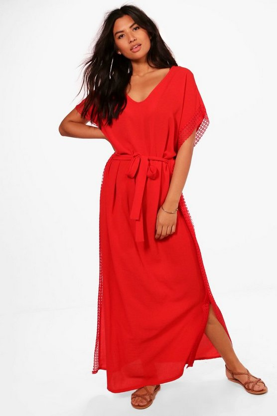 Stella Lace Trim Maxi Beach Dress
