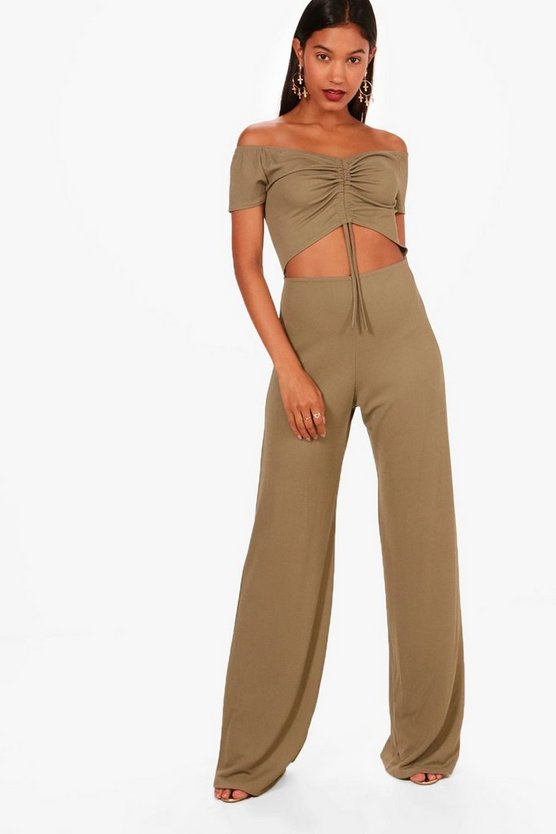Paige Wide Leg Cut Front Jumpsuit